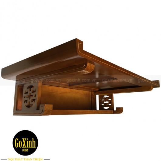 Bàn thờ treo tường hiện đại K014 màu hạt dẻ