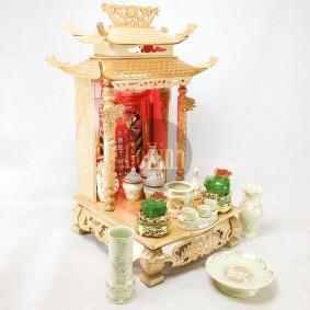 Ban thần tài mái chùa 36 đẹp