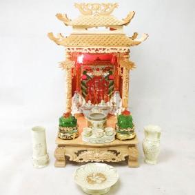 Ban thần tài mái chùa 41 Đẹp