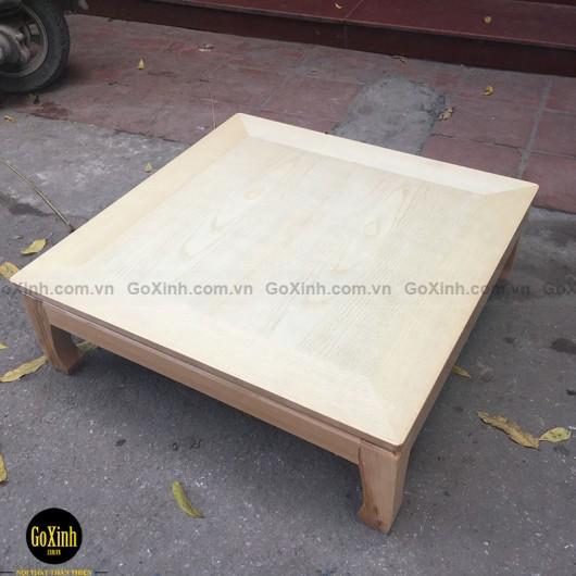 Bàn Nhật gỗ sồi vuông 80cm