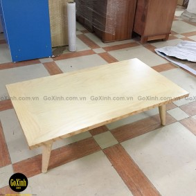 Bàn trà nhật gỗ sồi chân tiện màu gỗ 100cm
