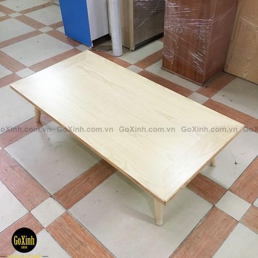 Bàn trà nhật gỗ sồi chân tiện màu gỗ 120cm