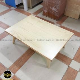 Bàn trà nhật gỗ sồi chân tiện màu gỗ 80cm