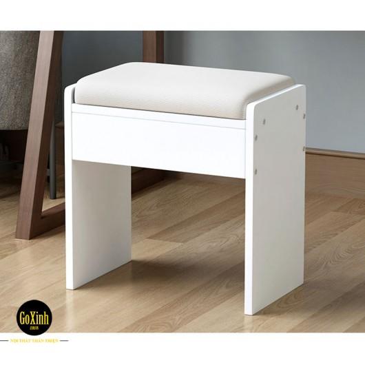 Ghế bàn trang điểm màu trắng