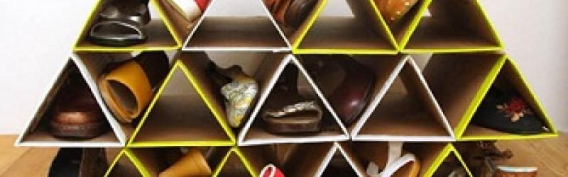 Tự làm giá để giày dép tuyệt đẹp từ Bìa Carton