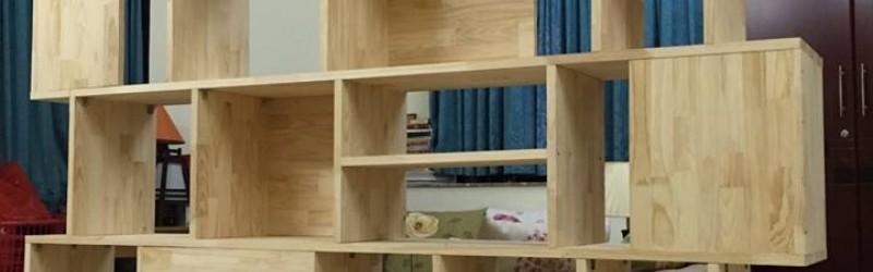 Tự làm giá sách tuyệt đẹp từ gỗ thông ghép