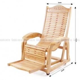 Ghế lười gỗ cao su